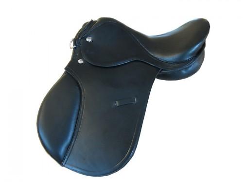 Vielseitigkeits-Sattel-Equestrian-schwarz-in-vielen-Groessen-NEU